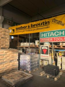 vendita materiale per l'edilizia